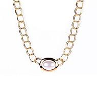 Ligne collier pendentif perle de double