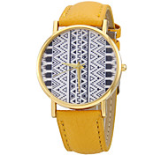 Women's Totem Pattern PU Band Quartz Wrist Watch (Assorted Colors)