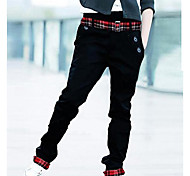 Uomo unico nastro Casual Pantaloni Lunghi Lisci