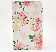 Para Funda Samsung Galaxy con Soporte / Flip Funda Cuerpo Entero Funda Flor Cuero Sintético Samsung Tab 3 7.0