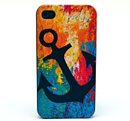 Retro Anchor Sea Pattern PC Hard Case for iPhone 4/4S