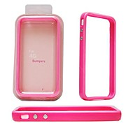 Elonbo A7M Solid Color Design TPU Bumper Frame Case for iPhone 4/4S(Assorted Colors)