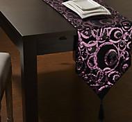Violet Motif Cercle Chemin de Table avec le gland
