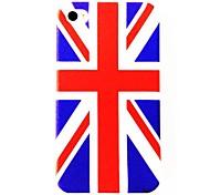 Pelo Reino Unido Bandeira Nacional padrão de policarbonato rígido Cases para iPhone 4/4S