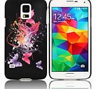 Caso Farfalle Hard Cover colorata per la galassia S5 i9600 di Samsung