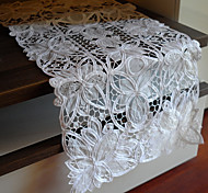 White Polyester Rectangular Table Runners