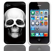Skull Design Back Case with 3-Pack Screen Protectors for iPhone 4/4S