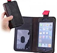 Housse en cuir rétro style livre PU avec logement pour carte pour l'iPhone 5/5S