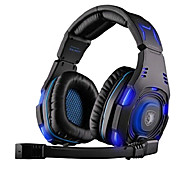 SADES SA-907 Headphone USB Gaming Over Ear with Microphone and Remote Control for PC