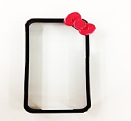 Bow-Knot Black Frame modello rigido in policarbonato per iPhone 4/4S