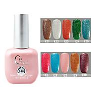 1PCS CH Soak-off Pink Bottle Astral Glitter UV Color Gel Polish NO.121-130(15ml,Assorted Color)