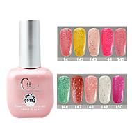 1PCS CH Soak-off Pink Bottle Astral Glitter UV Color Gel Polish NO.141-150(15ml,Assorted Color)
