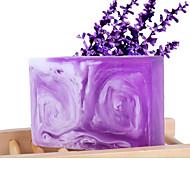 Weizi Handmade Lavender Milk Essential Oil Soap Whitening Anti-Acne 100g