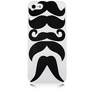 Patrón bigote Caso de silicona suave para iPhone5/5s