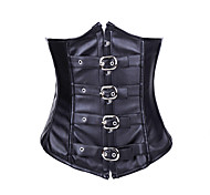Wild Girl Black PU Leather Punk Lolita Corset