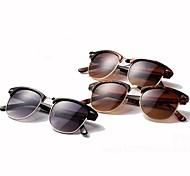 Unisex's Retro Inspired Club Elegant Metal Star Master Wayfarer Half-frame Sunglasses