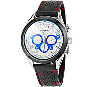 Men's Simple Fashionable Round Dial Silicone Band Quartz Analog Wrist Watch(Assorted Color)