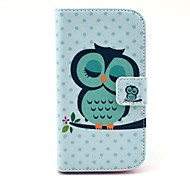 Pattern Owl PU Leather Case cuerpo completo con ranura para tarjeta soporte para Moto T
