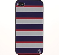 Drei-Farben-Streifen-Muster-PC Hard Case mit schwarzem Rahmen für iPhone 4/4S