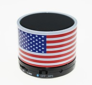 TS-S10 MP3 Function Mini Bluetooth Speaker with TF Port & Mic for Phone/Laptop/Tablet PC(American National Flag)
