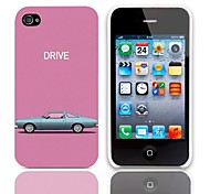 Car Pattern Hard Cover with 3-Pack Screen Protectors for iPhone 4/4S