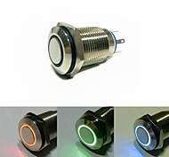 16mm  latching push button switch DC 12V Angel Eye (Random delivery)