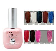 1PCS CH Soak-off Pink Bottle Glitter UV Color Gel Polish NO.101-110(15ml,Assorted Color)