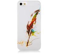 Patrón Quill-Pen Case de silicona suave para iPhone4/4S