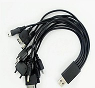 Ten in One Mobile USB Charging Cable Drag Ten Computer USB Cable