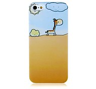 Giraffe in Desert Pattern Silicone Soft Case for iPhone4/4S