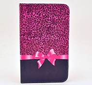 Leopard Bow Pattern Full Body Case with Stand for Samsung Galaxy Tab 3 8.0 T310