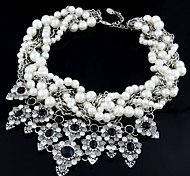 Fashion Crystal Multilayer Pearls Choker Necklace for Women 2014 New Design
