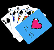 Regalo personalizzato Blue Heart Motivo Playing Card per il Poker