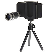 8X Optical Zoom Telescope Camera Lens with Tripod and Back Case for iPhone 4/4S