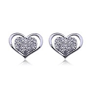 Lureme®Double Heart Earrings