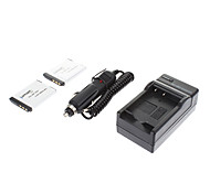 ismartdigi-Sony NP-FD1 BD1 (2pcs)680mah,3.6V Camera Battery+Car charger for SONY G3 TX1 T900 T700 T77 T300 T200 T500