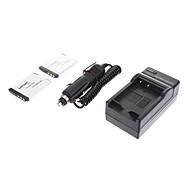 ismartdigi-Sony NP-FD1 BD1 (2pcs) 680mAh, cargador 3.6V batería de la cámara + del coche para SONY G3 TX1 T900 T700 T77 T300 T200 T500