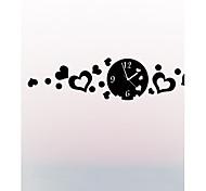 "27.5""H Modern Brief Style Heart-shaped Mirror Wall Clock"