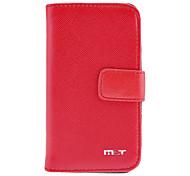 Cas Motif Croix PU cuir Flip avec fente pour carte et Stand pour iPhone 4/4S (couleurs assorties)