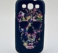 Modelo de flores decorado cráneo duro caso para Samsung Galaxy S3 I9300
