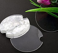 Fashion Plastic Round Jewelry Display Stand For Rings (Clear)(100pcs)
