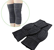 Soft and Elasticity Cashmere Wool Knee Warmer Support Warmer Unisex-(A pair)Black