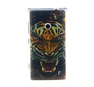 Kinston Tiger Head Pattern TPU Soft Case for Nokia Lumia 520
