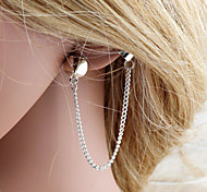 Clip EarringsJewelry Golden / Silver Silver Plated Party / Daily / Casual