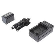 ismartdigi-Sony NP-FV70 2060mah, 7.2V Batteria + caricabatteria da auto per SONY XR350E XR550E SR68E FV100/FV50