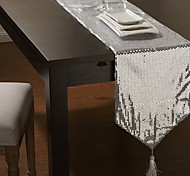 White / Silver Rectangular Table Runners