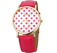 Women's Style  Small Dots Fase  PU Band Quartz Wrist Watch (Assorted Colors) Cool Watches Unique Watches