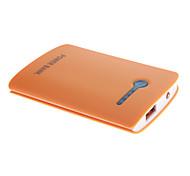 NOYUDA 5000mAh bateria externa com lanterna para o dispositivo móvel (laranja)