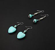 Cheap Green Lantern Resin Drop Earrings+Green Heart Resin Drop Earrings(2 pairs)