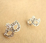 Shixin® Fashion Mask Shape With Cubic Zirconia Silver Alloy Stud Earrings (1 Pair)